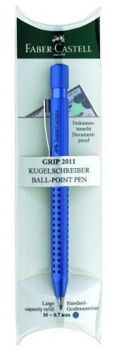 Faber-Castell 144155 - Kugelschreiber GRIP 2011, Mine: M, Schaftfarbe: blau-metallic