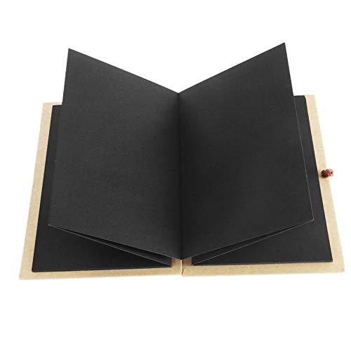 Momyeah AlbumKraftpapier Hardcover Akkordeon Foto Ablum Buch 36 Seite Blank Scrapbook für Graduation, Brown (Akkordeon-foto-buch)