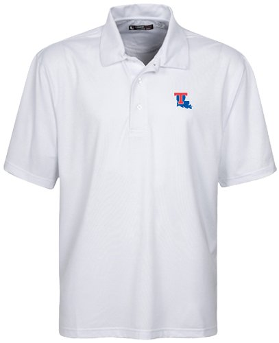 Oxford NCAA Louisiana Tech Bulldogs Herren Poloshirt, Stretch, Jacquard, Weiß, Größe XL Louisiana Tech Bulldogs Golf