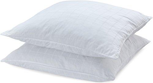 AmazonBasics Kissen mit Baumwollbezug, 80 x 80 cm, Packung mit 2 Stück