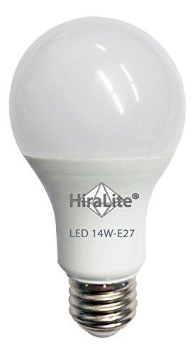 HiraLite LED 14W Vollspektrum Tageslichtlampe (5000°K / Ra 94). Flimmerfreie Brillante Lichtqualität dank neuer innovativer Technologie. Idealer Ersatz für eine 75W Glühbirne.