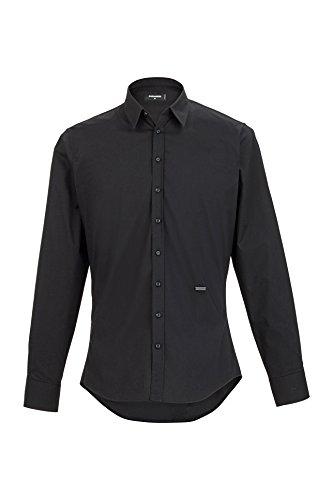 Dsquared² Herren Hemd , Farbe: Schwarz, Größe: 54