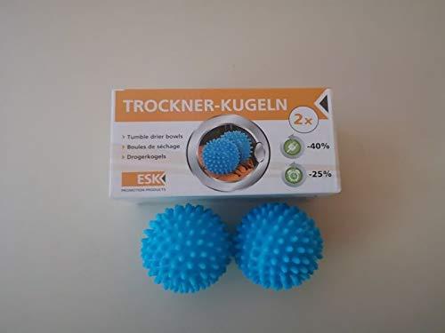 TOP 2x Trockner-Kugeln Wäschekugeln Wäschebälle Trocknerbälle für Wäschetrockner