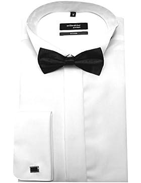 Seidensticker Smoking Hemd weiß inclusive Fliege und Manschettenknöpfe SP 2060 Modern Fit 38 bis 46