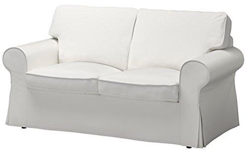 Ektorp Sofa (Custom Slipcover Replacement Die Ektorp Zweisitzer-Sofa-Bett-Abdeckung Ersatz ist nach Maß für IKEA Ektorp 2 Seater Sleeper dichter Weiss)