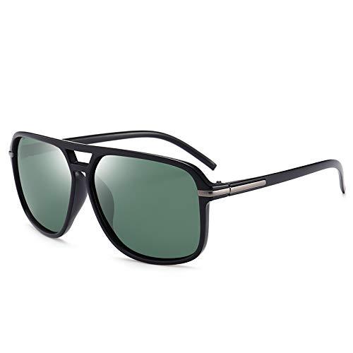 TOOSD Sonnenbrille Polarisierte Fahren Unisex Brille UV400 Einheitsgröße mit dunkelgrüne Gold Flieger-Sonnenbrille Metallgestell,Green