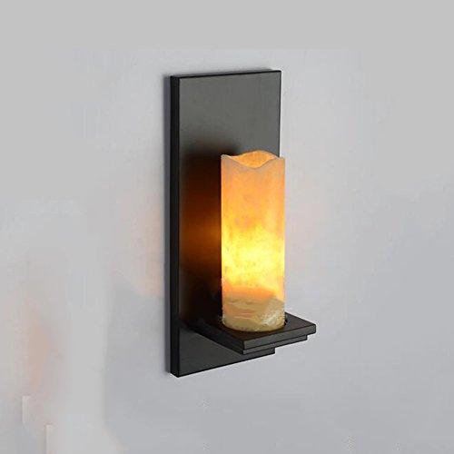 Loft Industrial Wind Kerze Wandleuchte Iron Wall Lampe für Bar Cafe Restaurant Aisle (14 * 35CM)