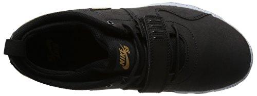 Nike Trainerendor L Qs, Chaussures de Skate Homme Multicolore - Negro / Dorado / Gris (Black / Metallic Gold-Wolf Grey)