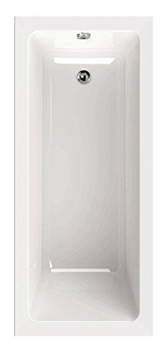 AquaSu 80163 8 Acryl linHa, 160 x 70 cm, Weiß, Wanne, Badewanne, Bad, Badezimmer