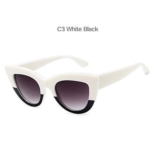 ZHAS High-End-Brille Frauen Cat Eye Sonnenbrille Vintage Spiegel Sonnenbrille Frauen Eyewear Shades Für Damen Personalisierte High-End-Sonnenbrille weiß schwarz