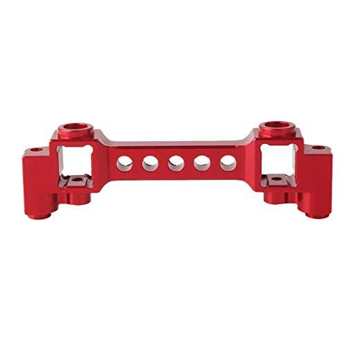 B Blesiya Metall Frontstoßstange Front Bumper Halter Halterung Zubehör für 1/10 Traxxas TRX-4 Trx4 RC Auto - Rot - Front Halter