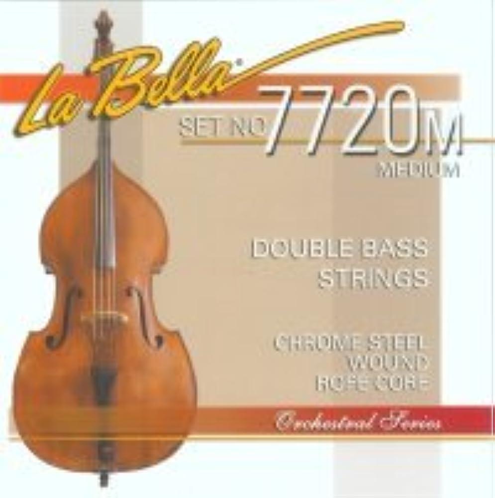 La Bella Professional Series Double-Bass-Set chrom Stahl Flatwound) Medium
