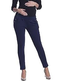 Zeta Ville - Treggings pantalones premamá talle bajo bolsillos - mujer - 258c