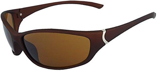 Praktische Sport-Sonnenbrille mit UV400 Sonnenschutz Autofahren Rad Laufen Sport Freizeit Sommer Strand - Sun Glasses Lunettes Soleil Gafas Sol - braun