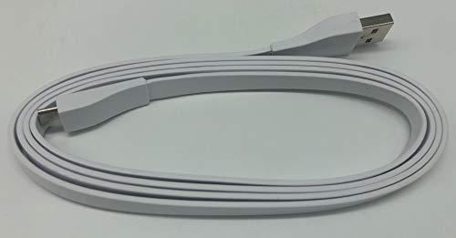 USB Ladekabel für Logitech Bluetooth Lautsprecher (UE Boom, UE Boom 2, UE MEGABOOM, UE MEGABOOM 3, UE Blast, UE MEGABLAST, UE WONDERBOOM, UE WONDERBOOM 2), weiß, 1,2 m Blast-usb