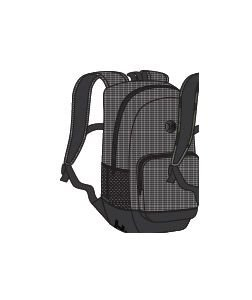 Hurley Renegade Printed Backpack, Color: White/Black/Black, Size: Qty -