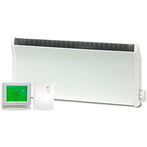 Adax Norel termostático eléctrico bajo perfil/–PANEL calefactor con temporizador de inalámbrico y termostato,
