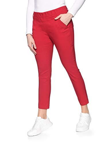 Via Cortesa by Adler Mode Damen Bengalin-Hose - Stoffhose, Businesshose, Stretchhose, Sommerhose Rot 46 -