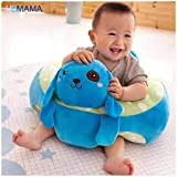 Babies Bloom Blue Cartoon Children Sofa Chairs Baby Support Seat (12 Months To 2 Years) (50x50x30cm)