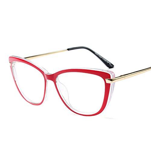 n Ultraleichte Brillenfassung für Herren und Damen, großer Rahmen Durchsichtig Klassische Kostüme Party Halloween. Accessoires (Farbe : Red) ()