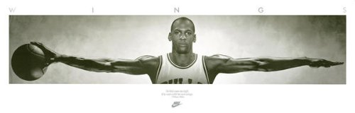 Poster di Michael Jordan, 182,5 cm x 58,5 cm