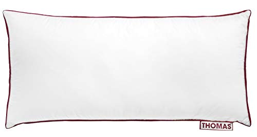 Thomas das Kissen hochwertiges Duo Kopfkissen für alle Schlaftypen, 100{09abb154eedc34e2d4787ed8ca8ab5dbaf690a32965188df25a5f2a1b88a4062} Baumwolle, 40 x 80 cm, weiß