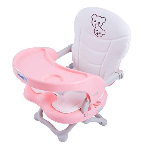 WUYEA Kinderspeichstuhl mit Platte Multifunktionalen Baby-Stuhl Stuhl Portable Baby Eating Chair Falten Adjustable,Pink