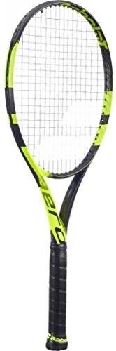 Babolat Pure Aero Unstrung NC Tennisschläger, Herren, Herren, Pure Aero Unstrung NC, nero/giallo