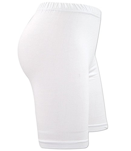 New Ladies WOMEN`S CYCLING SHORTS DANCING SHORTS STERCHABLE COMFORTABLE SHORTS white