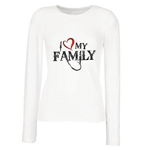 meln T-Shirt Einzigartige Designer Hemden Zeigen Ihre Liebe - fantastisches zusammenpassendes Kleid der Familie (X-Large Weiß Mehrfarben) ()
