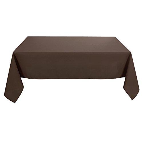 Deconovo Tovaglia Cerata Rettangolare Impermeabile in Tessuto Oxford per 8 Persone 140x240cm Cioccolato