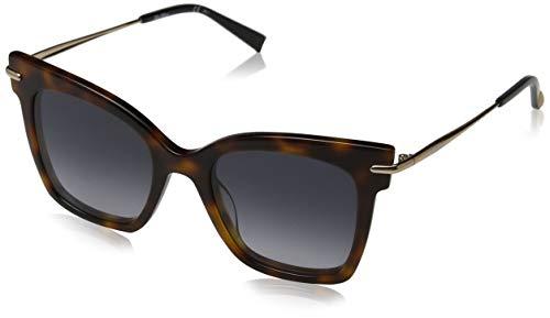 Max mara mm needle iii ed usg 52 occhiali da sole, blu (blueehvn gold/brown ds), donna
