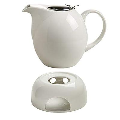 Maxwell & Williams Infusion T Théière en céramique avec Pot et passoire à thé Blanc 1 l