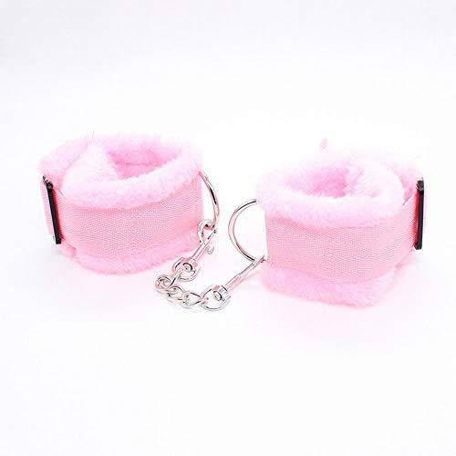 SM Kit Erwachsene Alternative Spielzeug Spaß Plüsch Taschentuch Ankle Großhandel Erwachsene Gesundheits-Versorgungsmaterialien, rosa Plüsch Kunststoff japanische Schnalle ()