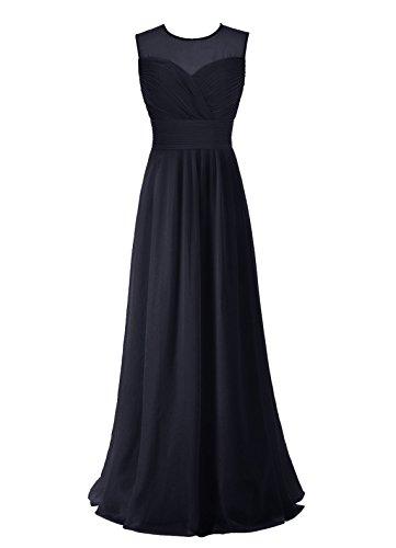 Find Dress Robe de Cérémonie Femme pour Mariage Style Unique Robe de Cocktail Mousseline Rétro Vintage Grande Taille Marine Foncé