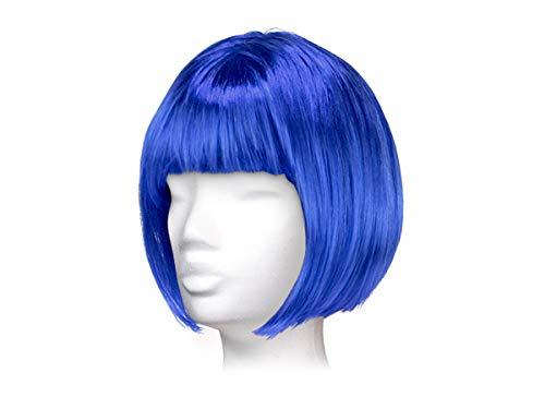 Parrucca da donna per carnevale di vari colori, taglio corto bob, taglia unica per donne adulte stile elegante classica comoda confortevole da indossare bellissima fashion lifestyle, corto blu scuro
