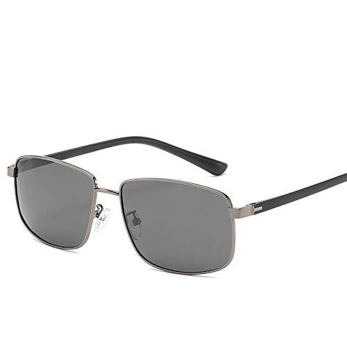 Yangjing-hl Sonnenbrille Herren Driving Driver Mirror Polarisierte Sonnenbrille Square Fishing Driving Glasses Gun Frame Graues Blatt TR