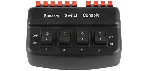 AV: LINK 128.56250W 4Way Lautsprecher Selector-Schwarz Av Distribution Amp