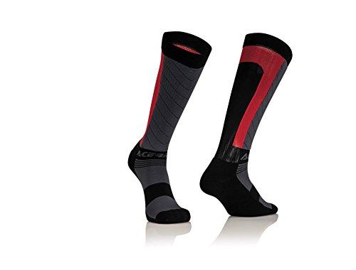 Acerbis 0021634.323.067 MX X-Flex pour homme, noir/rouge