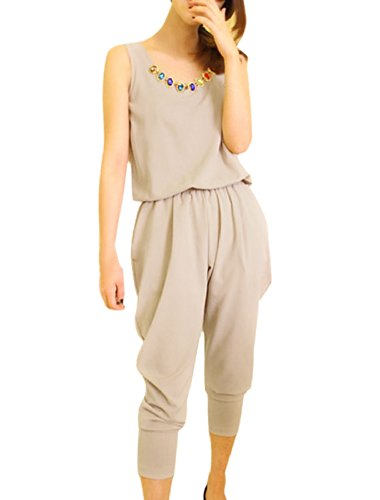 Col rond, poches côtés avec combinaison-décor faux Beige - Beige