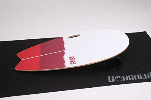 Surf Red - Indoorboard Skateboard Surfboard Trickboard Balanceboard Balance Board (140 mm)