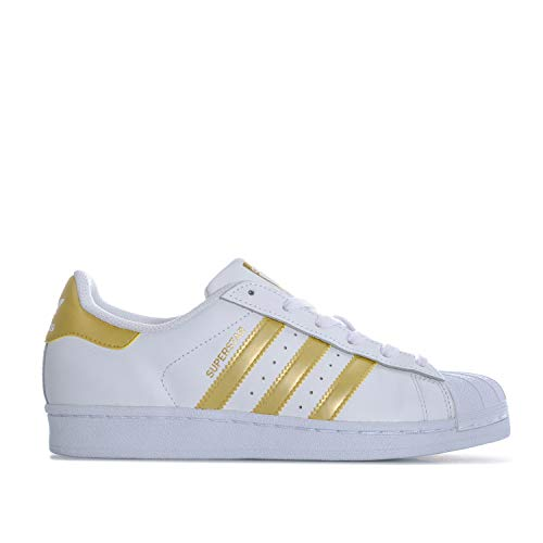 Adidas Sneaker Women SUPERSTAR Weiß Gold