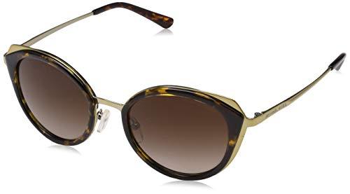 Michael Kors Damen Charleston 116813 52 Sonnenbrille, Shiny Pale Gold/Dark Tort/Darkbrowngradient