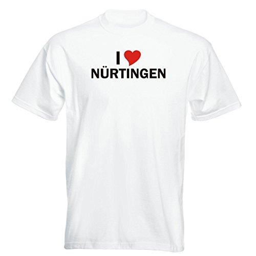 T-Shirt - i Love Nürtingen - Herren - unisex Weiß