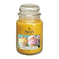 Candela profumata Price's all'essenza di Cupcake di Vaniglia. Durata fino a 10 volte superiore alle normali candele profumate, ideali per la creazioni di atmosfere di relax e benessere.