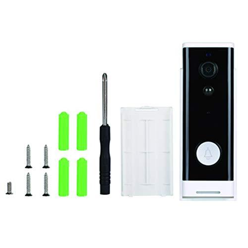 Voice-alarm-sender (BARBEDINGROSE Visuelle Drahtlose Türklingel, Smart-Home-Sicherheit, Wasserdichtes WiFi-Ring-Remote-Voice-Intercom-Mobilerkennung)