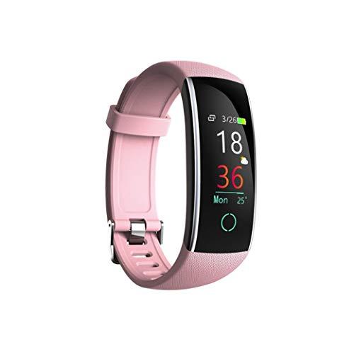 gaddrt Schrittzähler Smarte Uhren, Intelligenter Farbbildschirm Blutdruck Übung Herzfrequenz (Rosa)