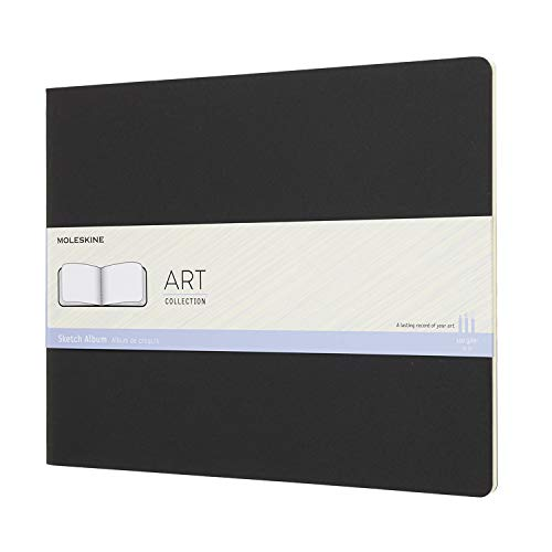 Holzkohle Schwarz Notebook (Moleskine Kreativ Notizbücher (Skizzenalbum, Xxlarge, 120G-Papier, Kartoneinband) schwarz)