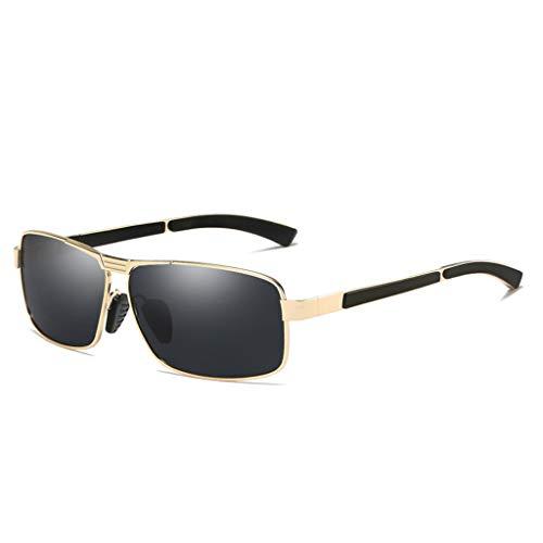 HUANPIN Polarisierte Sonnenbrille,Männlichen Sport Full-Frame im Freien klassischen Platz UV400 Fahren,C