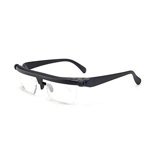 GEMSeven Dial Lesebrille Myopie Einstellbare Brillengläser -6d Bis +3 Dioptrien Pvc-abstandhalter Mit Variabler Brennweite